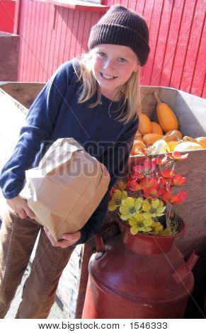 Girl At Market