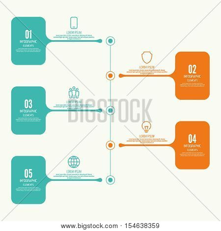 Comparative chart with banner for presentation, informative forms. Infographic option. Info chart Process step by step. Text box infographics report template layout. Vector illustration. Timeline