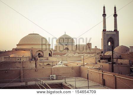 Yazd, Iran - October 07, 2016: Panorama Of Yazd. Yazd Is The Capital Of Yazd Province, Iran, And A C