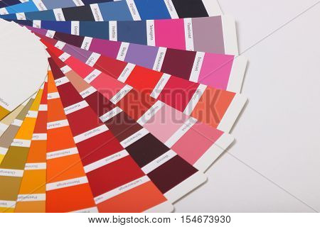 collection of ral colours on white background