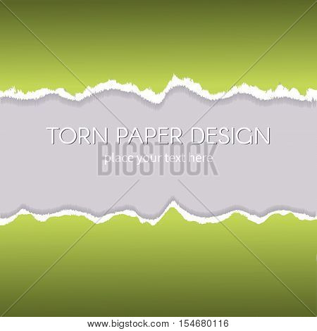 Vector torn paper effect design. Ripped paper texture. Stock image