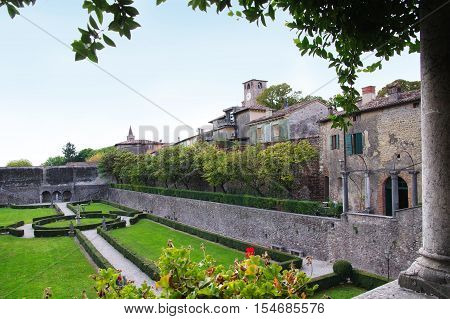 Palazzo Gonzaga-Guerrieri seat of the town council in Volta Mantovana Italy