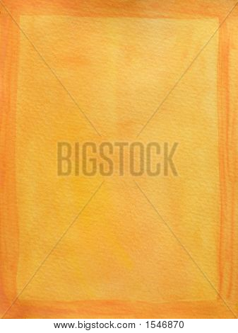 Painted Orange Frame On Yellow Background