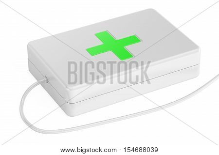 medical care online concept 3D rendering on white