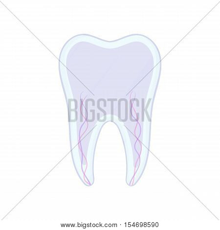 Tooth nerve icon. Cartoon illustration of tooth nerve vector icon for web design