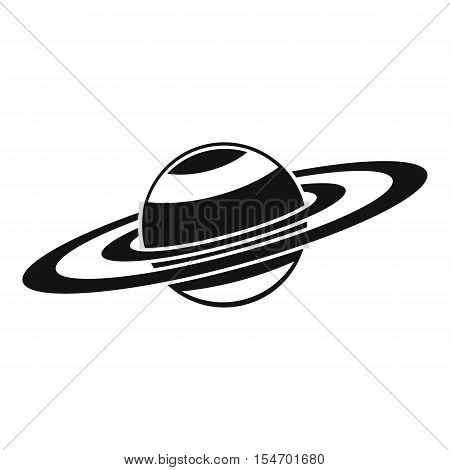 Saturn rings icon. Simple illustration of Saturn rings vector icon for web