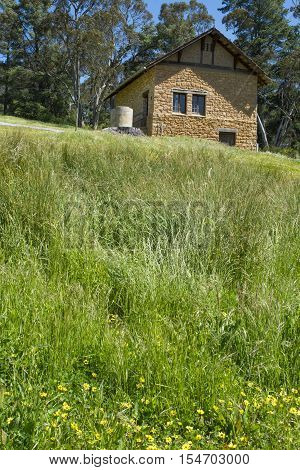 Verdun South Australia Australia - October 29 2016: External view of the historic artist studio of famous Australian landscape artist Sir Hans Heysen situated at The Cedars on Heysen Road.