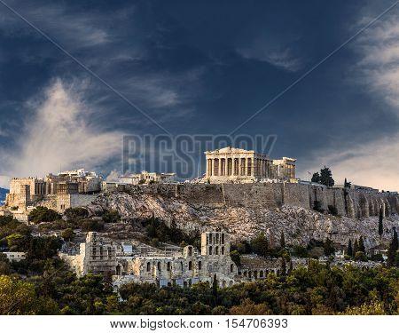 Temple of Parthenon Athenian Acropolis Athens Greece