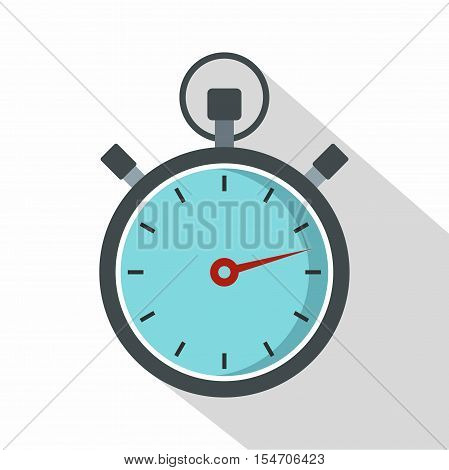Gray stopwatch icon. Flat illustration of stopwatch vector icon for web isolated on white background