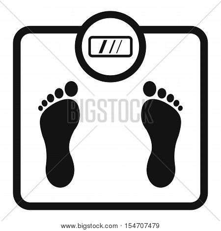Floor scales icon. Simple illustration of floor scales vector icon for web