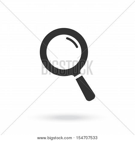 Magnifying glass icon. Search microscope.  Magnifying glass Graphic illustration