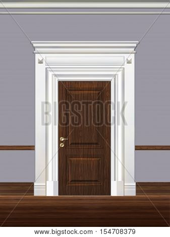 Portal, door, architectural detail, visualization 3d, illustration.