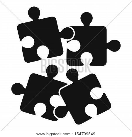 Jigsaw puzzles icon. Simple illustration of jigsaw puzzles vector icon for web
