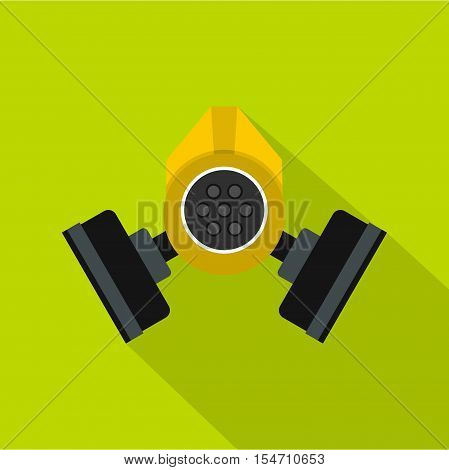 Gas mask icon. Flat illustration of gas mask vector icon for web