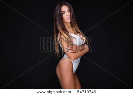 Portrait Of Sexy Woman.
