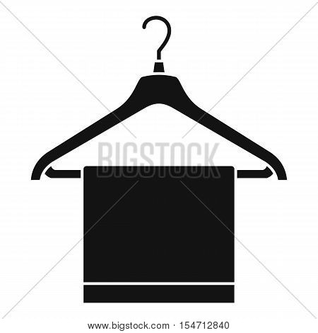 Hanger with cloth icon. Simple illustration of hanger with cloth vector icon for web