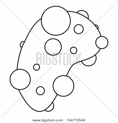 Cell virus icon. Outline illustration of cell virus vector icon for web