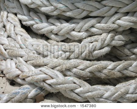 Large Coil Of Heavy Duty Anchor Rope