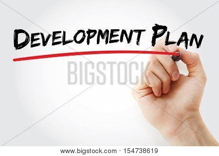 Hand Writing Development Plan With Marker