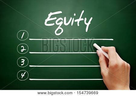Hand Drawn Equity, Business Concept