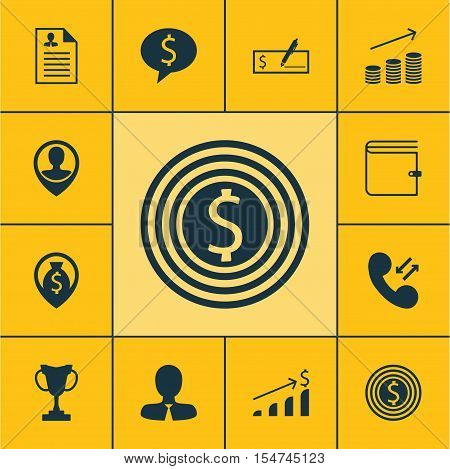 Set Of Management Icons On Manager, Employee Location And Tournament Topics. Editable Vector Illustr