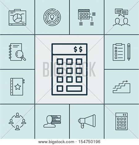 Set Of Project Management Icons On Schedule, Innovation And Board Topics. Editable Vector Illustrati