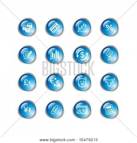 blue drop finance icons