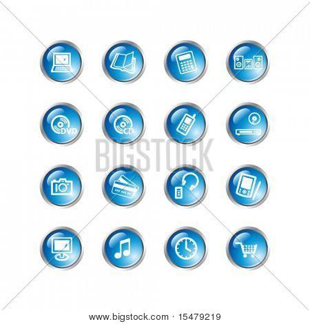 blue drop electronics icons