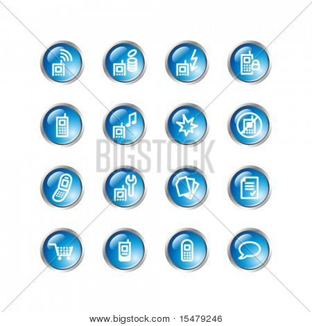 blue drop mobile phone icons
