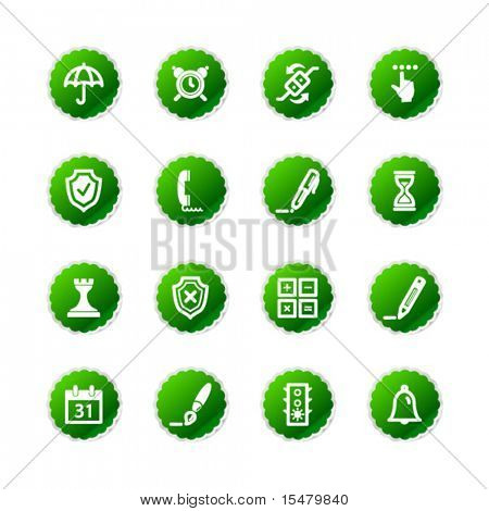 green sticker software icons