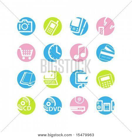 iconos de primavera círculo e-shop