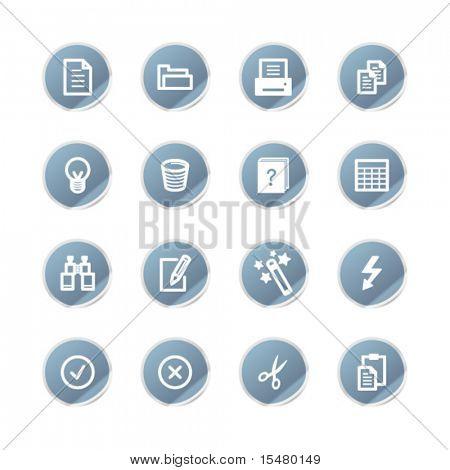 iconos de documento de etiqueta azul