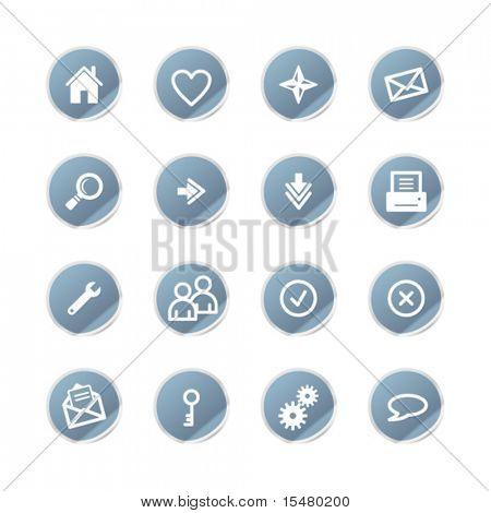 blue sticker web icons