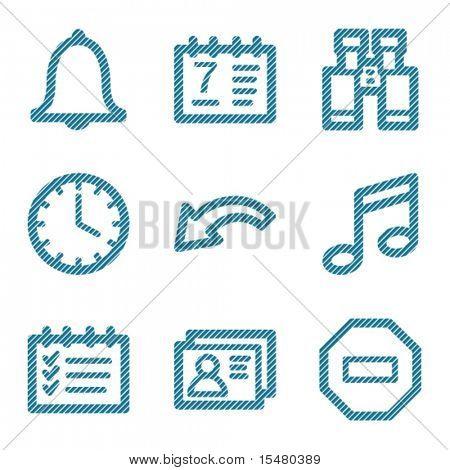 Blue line media organizer icons V2