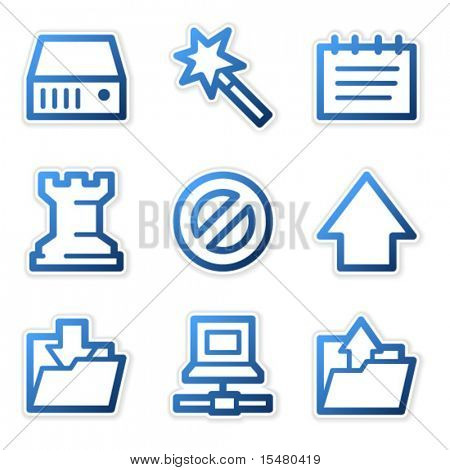 Data icons, blue contour series