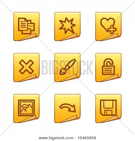 Image viewer 2 icons, gold sticker series
