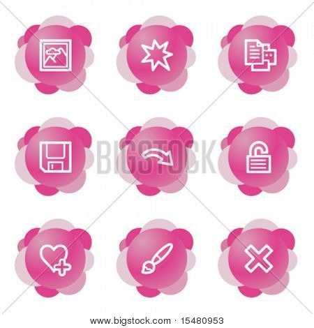 Image viewer 2 icons, pink flower series
