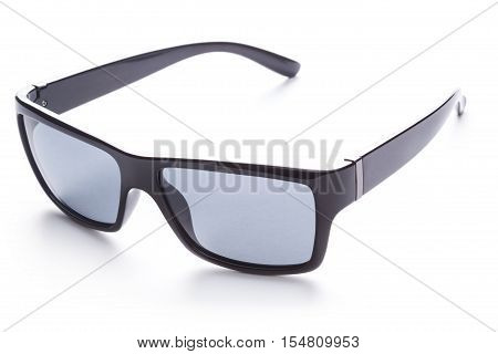 black Sunglasses. Isolated on the white background