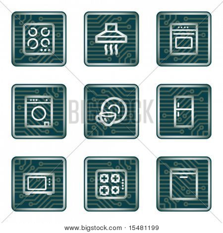 Home appliances icons, electronics series