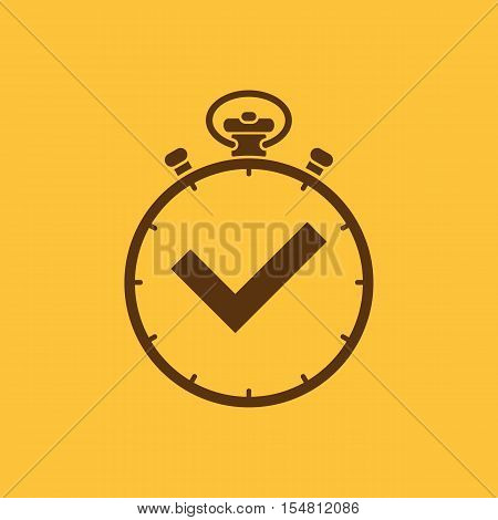 The stopwatch icon.Clock and watch, timer, countdown, stopwatch symbol. UI. Web. Logo. Sign. Flat design. App. Stock vector