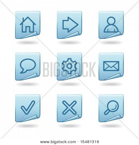 Web icons, blue sticker series