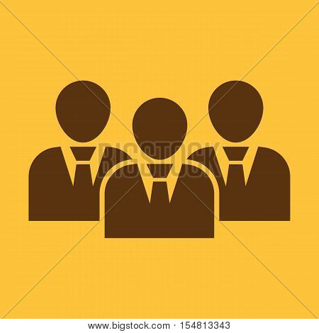 The management and teamwork icon. Team and group, teamwork, people, alliance, management symbol. UI. Web. Logo. Sign. Flat design. App. Stock vector
