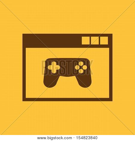 Online game icon. vector design. gaming, game symbol. web. graphic. JPG. AI. app. logo. object. flat. image. sign. eps. art. picture - stock vector