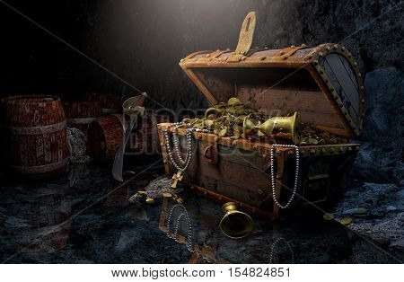 Old pirates chest