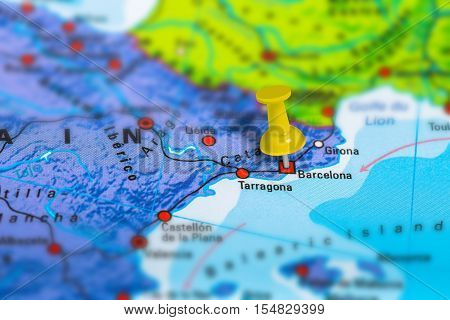 Barcelona Spain Map