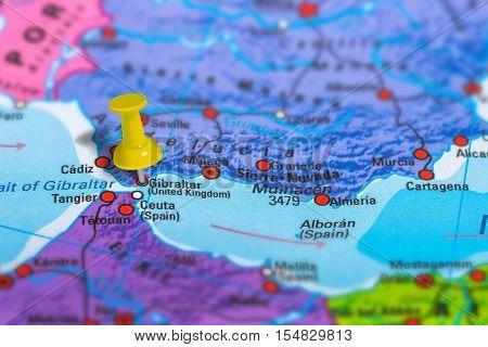 Gibralltar United Kingdom Map