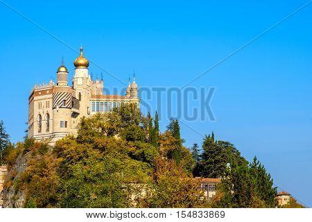 Rocchetta Mattei castle in Riola Grizzana Morandi - Bologna province Emilia Romagna Italy