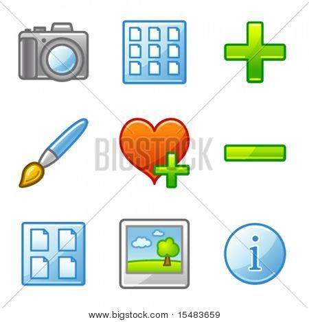 Image library web icons, alfa series