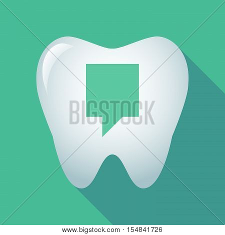 Long Shadow Tooth Icon With A Tooltip