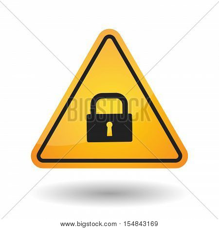 Isolated Danger Signal Icon With A Closed Lock Pad